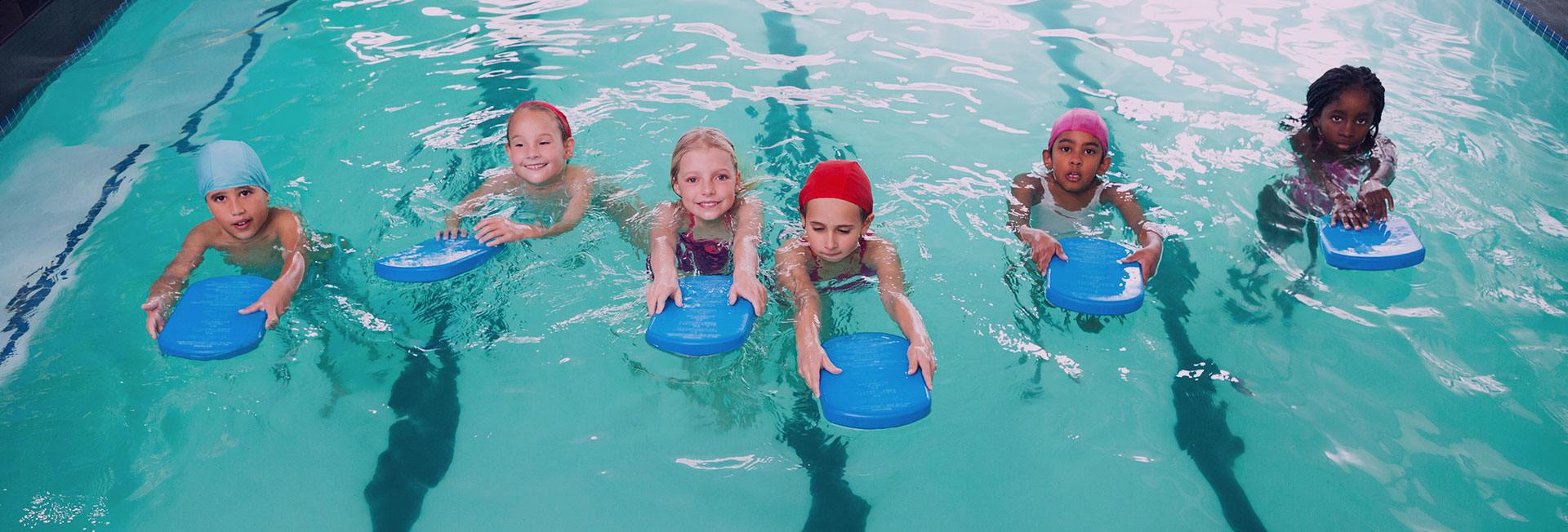 Children during swimming lesson