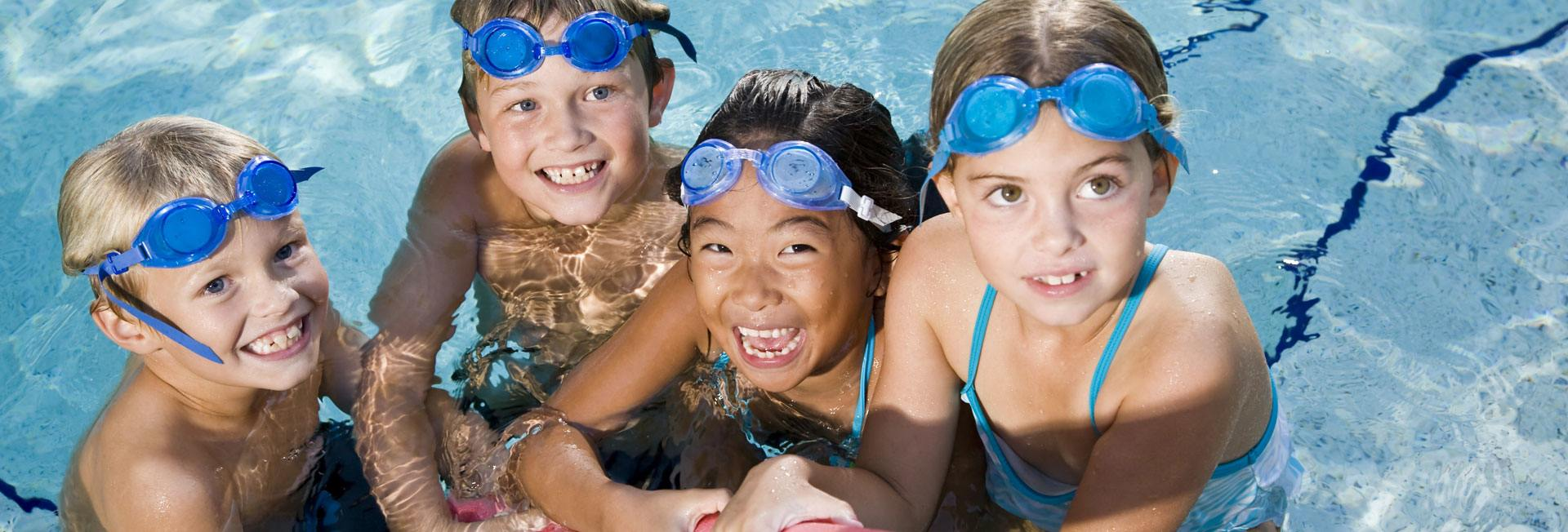Group of children in pool